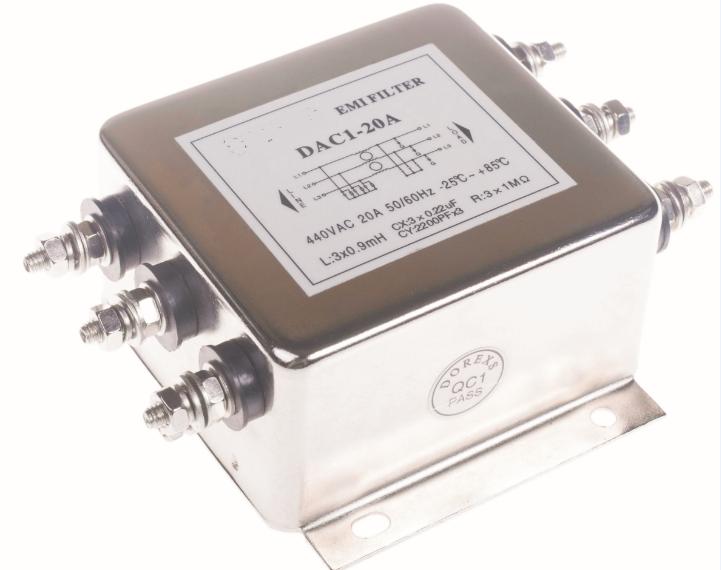 4 Piombo BNX002-01 Filtro EMI LC 5th ordine passa basso 2 canali 10 A Blocco
