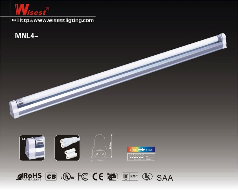Mnl4 T5 Fluorescent Lighting Fixture Office Ceiling Light T4 On
