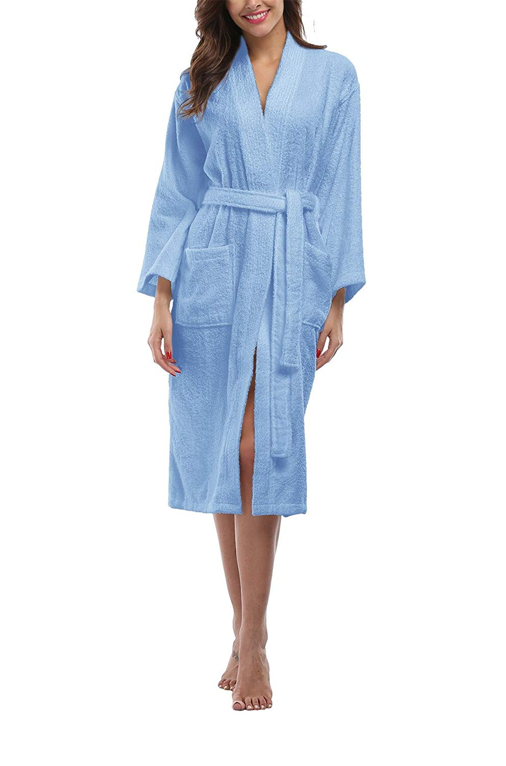 cecfa90bce Get Quotations · FADSHOW Women s Terry Cloth Robes