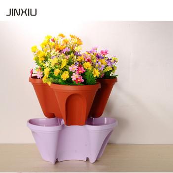 Flower Pot Plastic Colored Pots