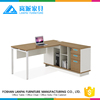 laminate table top metal frame computer table with side return
