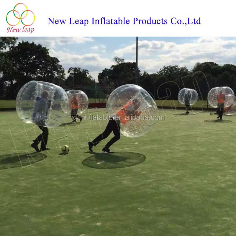 Best Quality inflatable Sports games soccer bubble ball safety football bumper ball for adult or kid