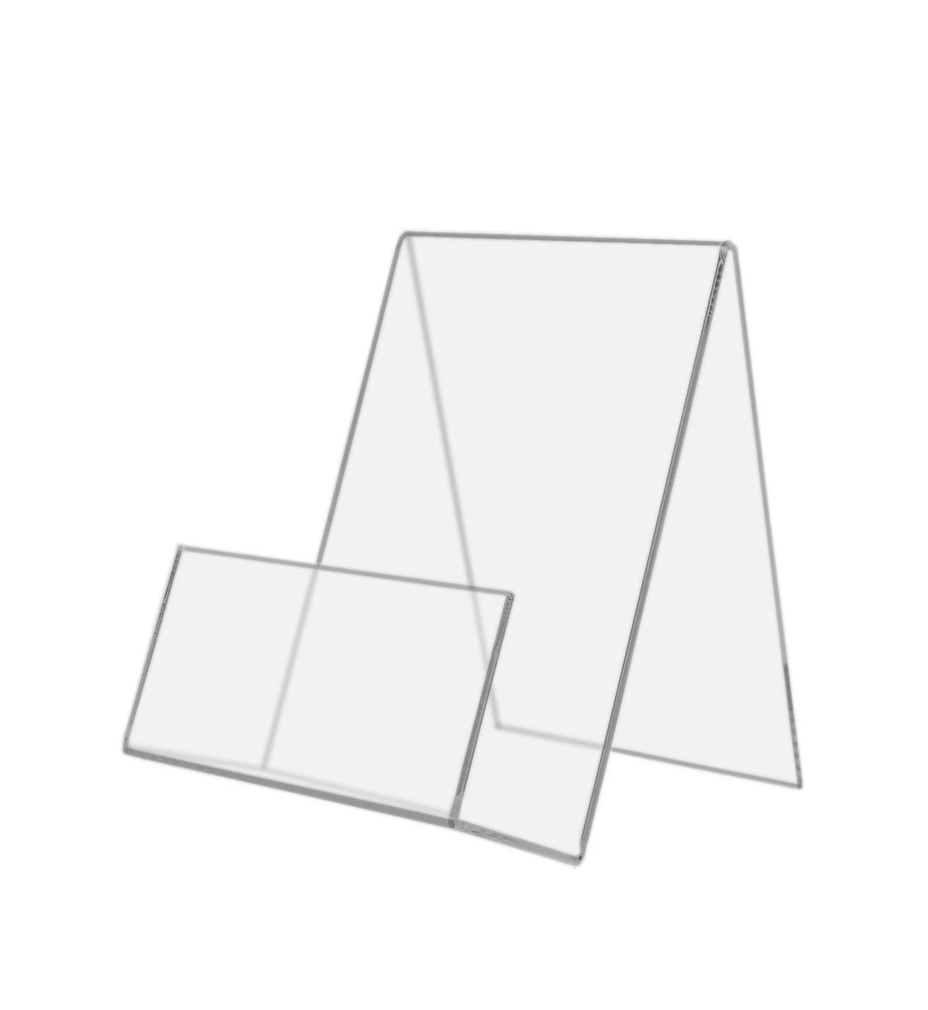 Marketing Holders 4 x 5-3/4 Inches Clear Acrylic Desktop Easel with Front Pocket for Promotional Literature, Rack Cards, Postcards (1)