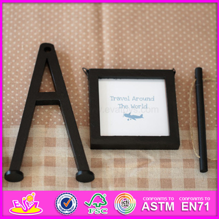 2016 hot sale baby wooden picture frame, most popular kids wooden picture frame, fashion children wooden picture frame W09A053