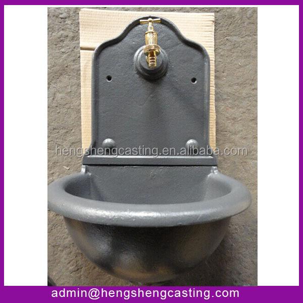 Antique Cast Iron Garden Fountain Sink Water Feature Basin