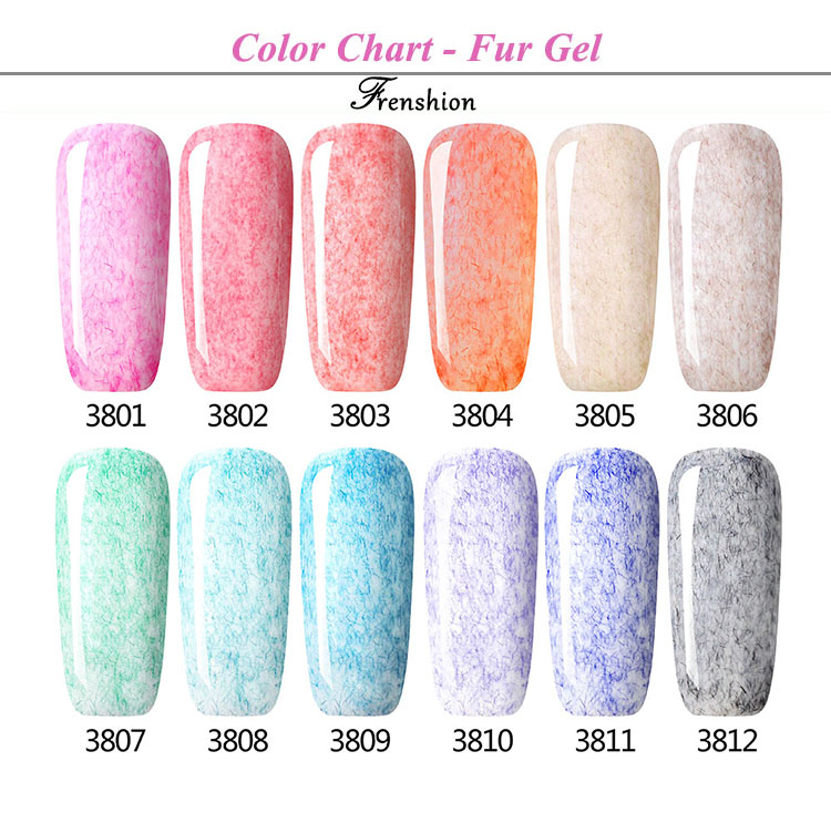 OEM new Frenshion brand wholesale soak off color Nail Polish suppliers china Fur Gel