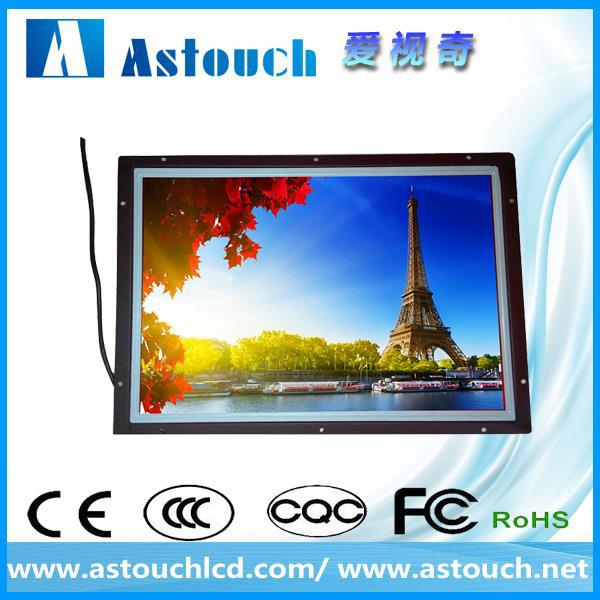 high brightness sunlight readable 24 inch 1080p open frame monitor touchscreen with SAW touch