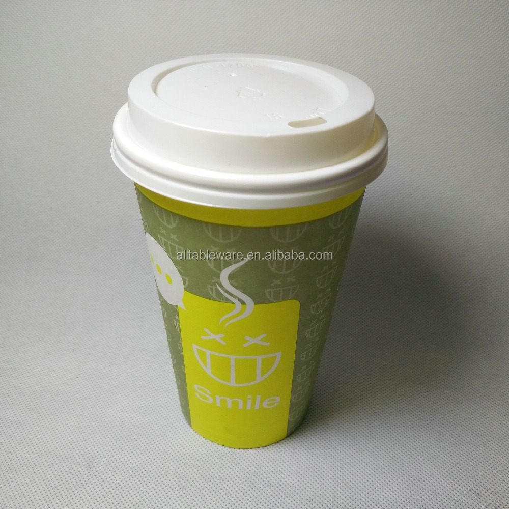 Manufacturer Supply Hot Single Wall Disposable Paper Coffee cups with lids