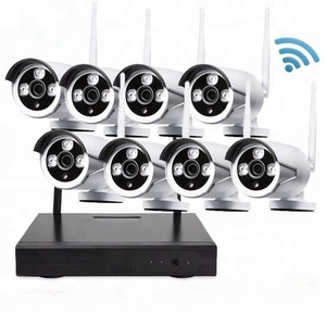 8CH night vision home cctv Surveillance nvr kit 720P security camera system wireless