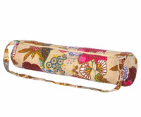 customize canvas waterproof yoga mat bag, cheap yoga mat bag