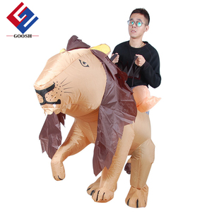 Inflatable lion piggyback animal zoo Children and Adult fancy dress costume lion mascot costume inflatable costume