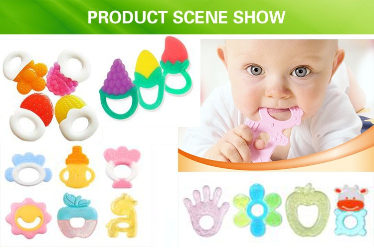 Custom Silicone gel Toy Baby Teething Ring