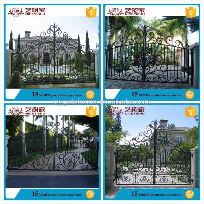 Yishujia Factory Cheap China Big Iron Gate, Beautiful House Gates, Outside  Indian House Main