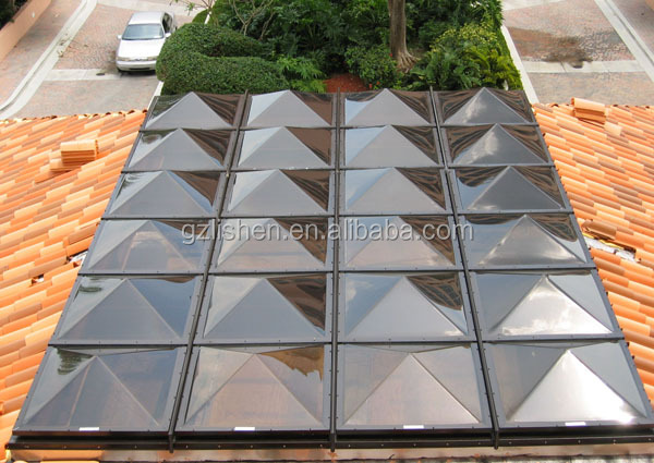Pc indoor polycarbonate greenhouse plastic pyramid for Greenhouse skylights
