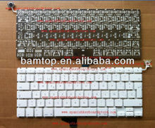 for apple macbook A1342 White Spanish notebook keyboard