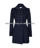 Winter Formal Office Wear Double Breasted Trench Coat