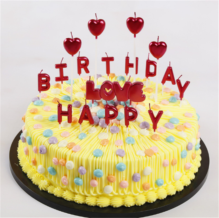 Product Name Fanny Gold Happy Birthday Letter Cake Candles