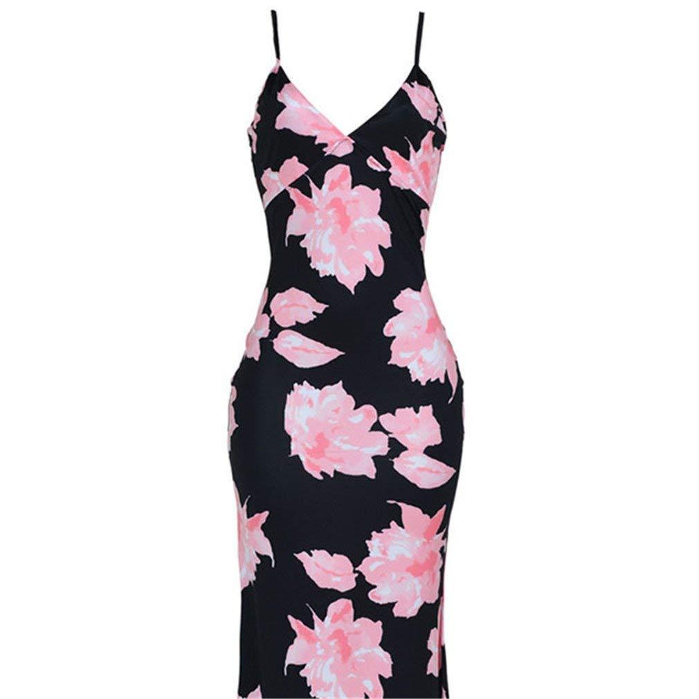 be42f3a03e Get Quotations · Meolin Women s Vintage Floral Print Fishtail Dress Long  Maxi Dress Midi Pencil Dress