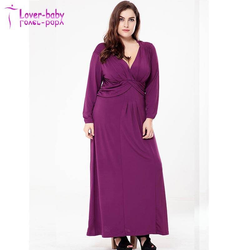 Mujeres gordas más tamaño v-cuello de manga larga vendaje vestidos ...