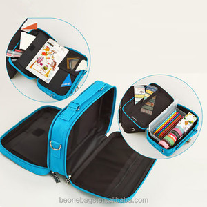 Zipper Binder Pencil Pouch 3 Pocket Pencil Bag