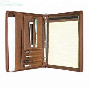 Personalized Leather Portfolio/Letter Size/A4 Document Organizer Folder/Tablet Pad Folio for MacBook Pro/Air 13""