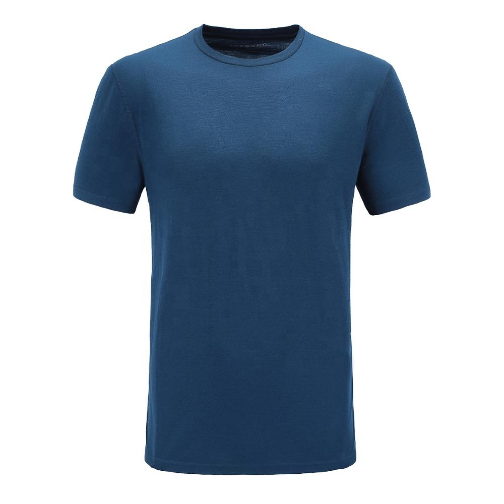 Customize make high quality favorable price mens merino wool t <strong>shirts</strong>