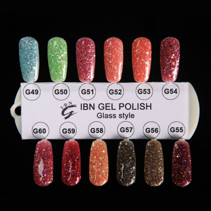Glitter Glass Style Gel Polish - Buy Glitter Gel Nail Polish,Glitter ...