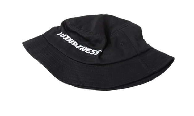 09e525f6b22 fashionable headwear supreme black hat embroidered logo bowler hat bucket  hat for wholesale