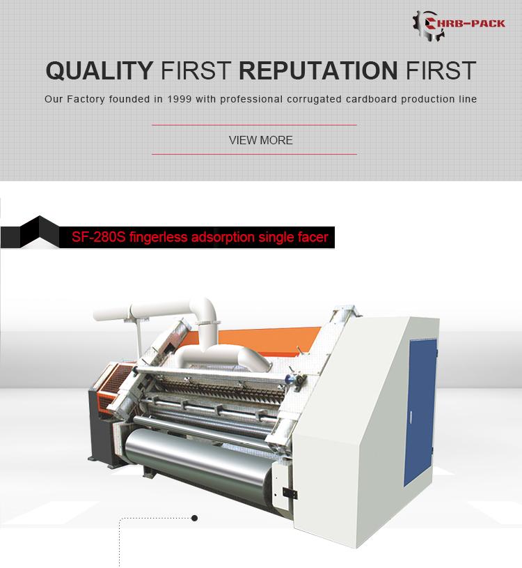 Fingerless Type Single Facer Corrugated Cardboard Machine/Single Facer Carton Box Machine