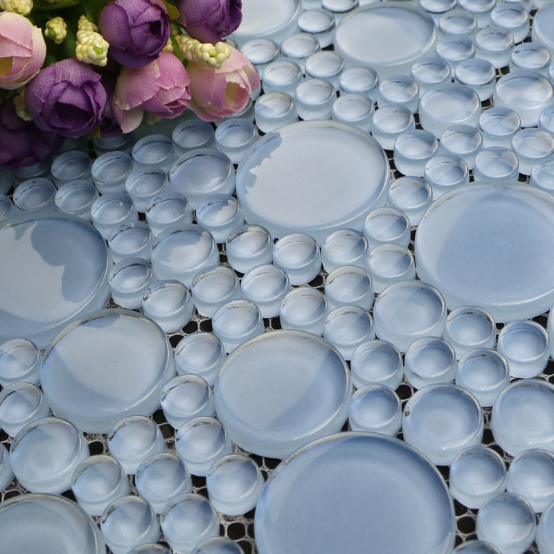 Bubble Glass Mosaic Circle Glass Mosaic Flooring Mosaic Tile 025YUAN