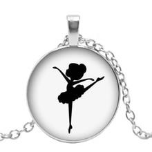 Хит! Новое стекло кабошон крыло девушка ожерелье балерины силуэт стеклянный купол кулон Ручные ювелирные изделия(Китай)