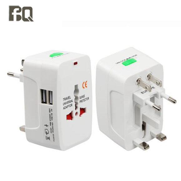 2018 new product US UK EU Universal Travel Adapter Dual usb Charger power ac/dc adapter 2 usb port converter Worldwide Plugs