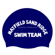 Waterproof silicone swim cap for adult swimmers