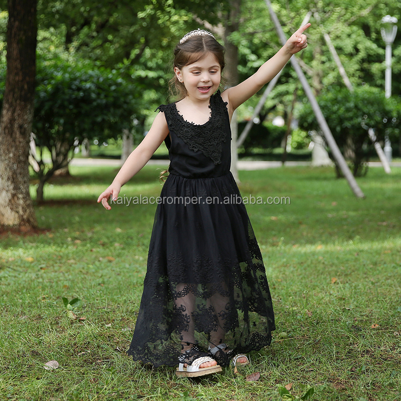 8512113674 navy long sleeve autumn winter lace flower girl dresses kids frock design
