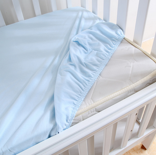 Waterproof 100% Cotton Jersey Fitted Bed Sheets for Baby