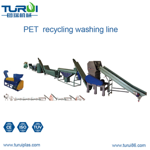Turui supply good quality pet plastic bottle crushing washing drying recycling line