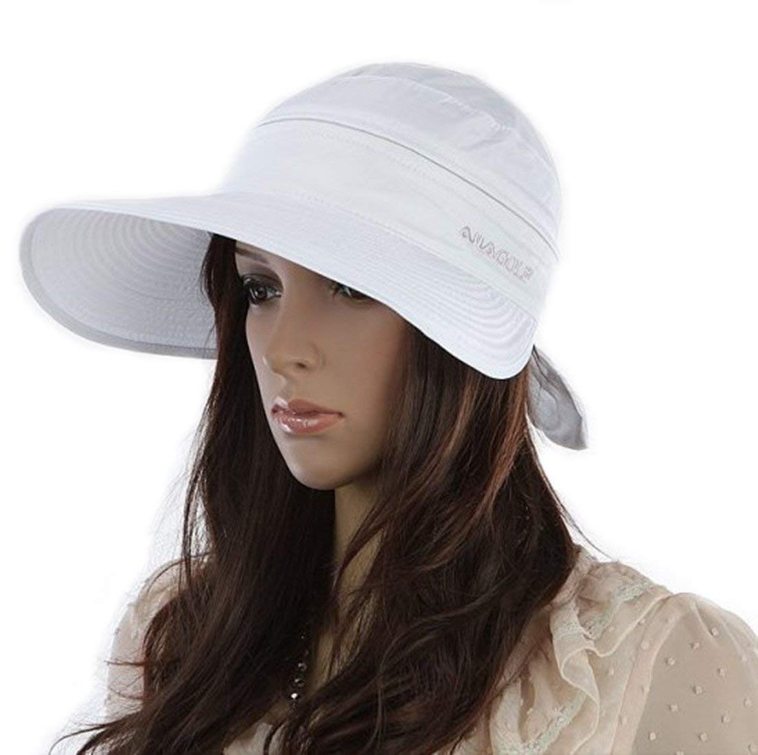 f4ff38b36eda1 Get Quotations · Women Wide Brim 2in1 Combined Golf and Tennis Sun Cap and  Visor