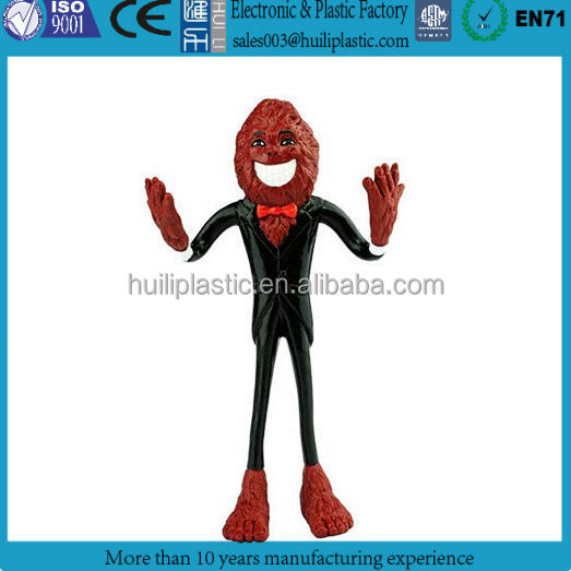 Custom make 3d plastic metal wire bendable figure,OEM design metal wire plastic bendable figure