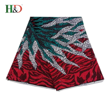 H & D Alibaba China Best Price Colorful Real Print Wax Fabrics Hollandais African Cotton For Sale