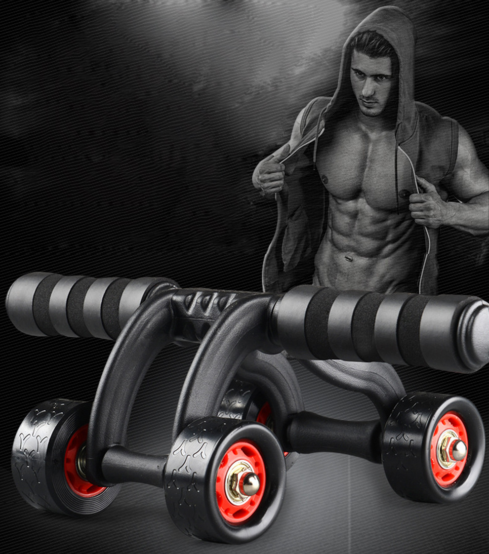 4 Wheels Abdominal Roller with Non Skid Wheels for Better Balance in Workout to Reduce Belly Fat 10
