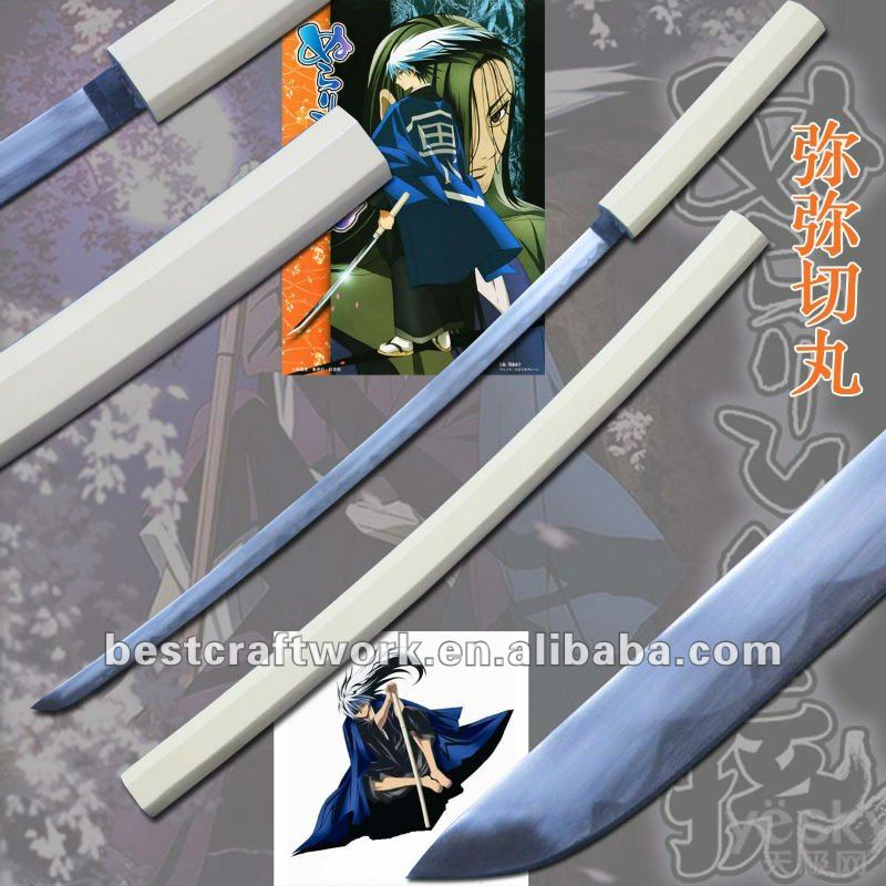 White Saya Wooden Handle Japan Bleach Sword