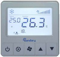 Bandary 2-Pipe 24Vac/DC Digital Room Thermostat to control 6-way valve
