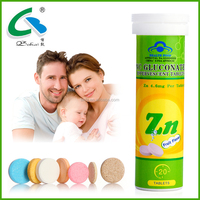 OEM Health Food Supplement and Health Functional Food Zinc Effervescent Tablet