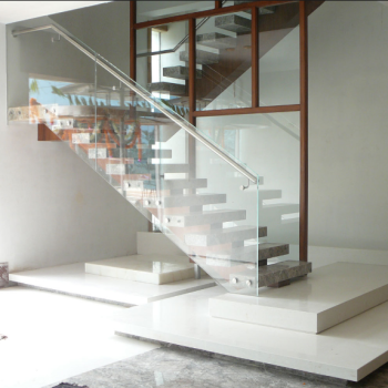 Modern Marble Step Straight Staircase Ladder Stairs