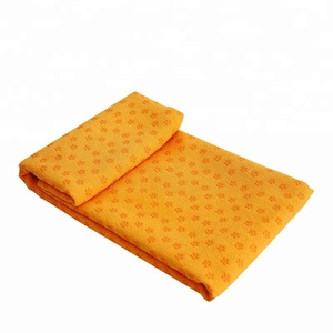 microfiber hot yoga non-slip pvc dots gym sport towel