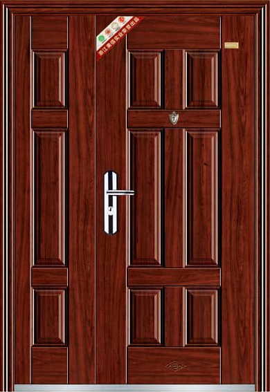 Popular steel door mother and son door design