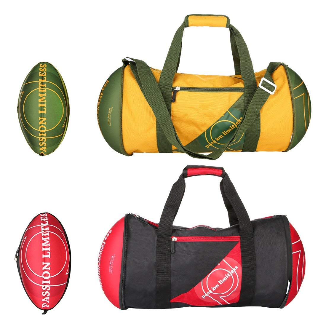 4418cdb8e5dc Get Quotations · Stimmt 22 Inch Duffel Bag Gym Bag For Women and Men - Oval  Shape Rugby Bag