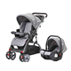 2 in 1 baby stroller with car seat carry cot