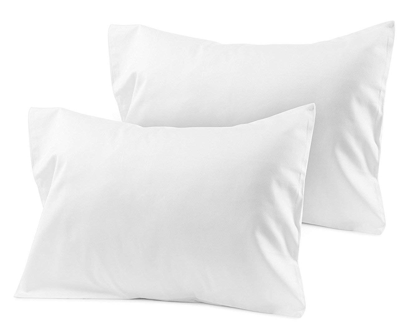 Travel Pillowcase 12X16 500 Thread Count Organic Cotton Set of 2 Toddler Pillowcase With Zipper Closer White Solid With 100% Egyptian Cotton (Toddler Travel 12X16 White Solid)