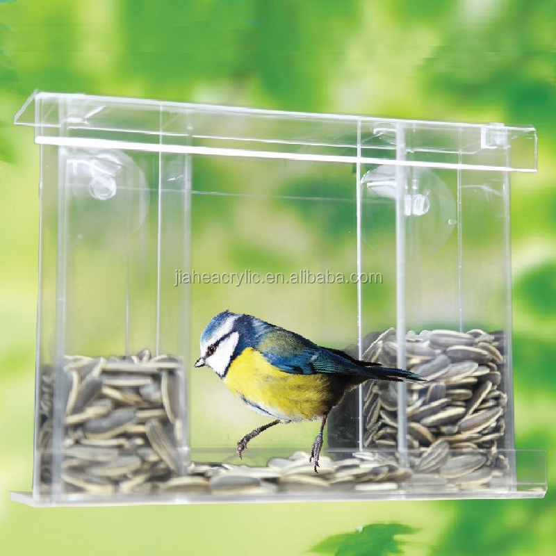 no cockatiel feeder pet canary seed tidy toys itm finch bird parrot mess feeders acrylic